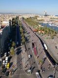 Route à Barcelone Photo libre de droits