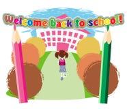 Route à l'école Photo libre de droits