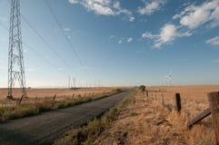 Route à l'énergie éolienne Photo libre de droits