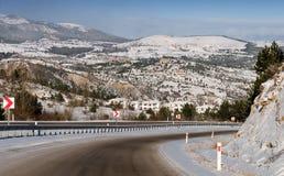 Route à l'aéroport Kastamonu Turquie Images stock