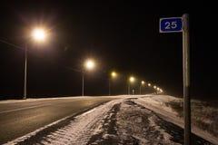 Route à l'aéroport, Norilsk photos libres de droits
