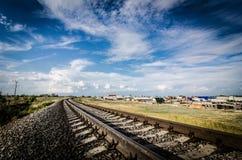 Route à l'horizon lumineux Photos libres de droits