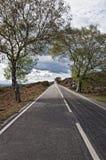 Route à l'infini Images stock