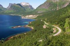 Route à la côte Photo stock