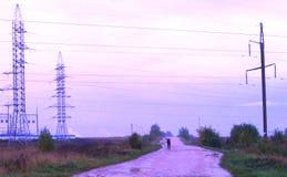 Route à la centrale  Images libres de droits
