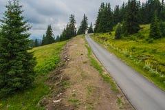 Route à la crête de Snezhanka Photographie stock libre de droits