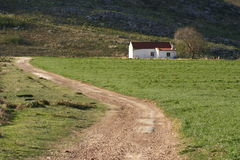 Route à la ferme Image stock