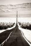 Route à la jonction de Death Valley Images libres de droits