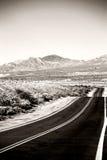 Route à la jonction de Death Valley Images stock