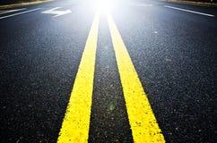 Route à la lumière Photo stock