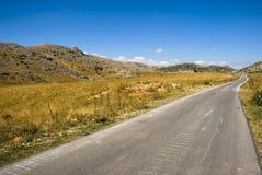 Route à la montagne image stock