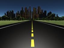 Route à la nuit de ville illustration libre de droits