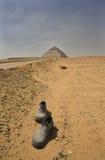Route à la pyramide courbée Photos stock