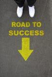 Route à la réussite Images stock