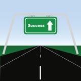 Route à la réussite illustration stock