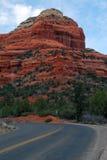 Route à la roche rouge Image libre de droits