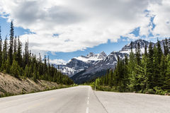 Route à la route express II de champ de glace Photos libres de droits