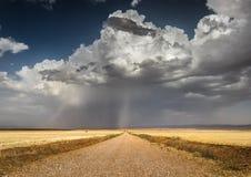 Route à la tempête images stock