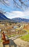 route à la zone alpine Malè Dolomiti di Brenta Italie photos libres de droits