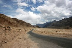 Route à Leh Photo stock