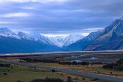Route à Mt Cuisinier, île du sud Nouvelle-Zélande Photographie stock