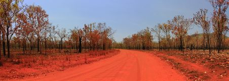 Route à Nourlangie, parc national de kakadu, Australie Photo stock