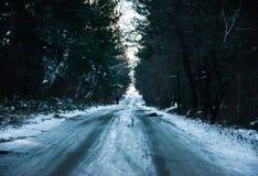 Route à quelque part Images libres de droits