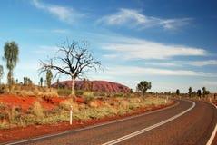 Route à Uluru Images libres de droits