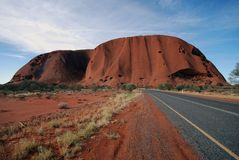 Route à Uluru Photo libre de droits