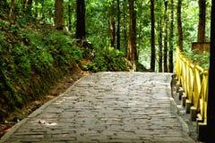 Route étendue par pierre Images libres de droits