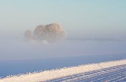 Route 1 de l'hiver Photos stock