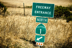 Route 1 sign, California Stock Photo