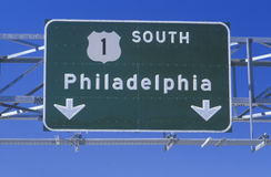Route 1 South sign Stock Photography