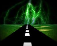 Route 11 d'éclairage illustration stock