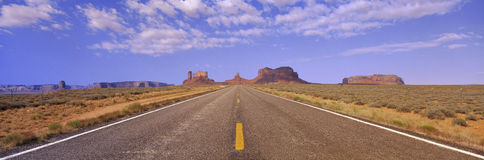 Route 163, Monument Valley, UT Stock Photo