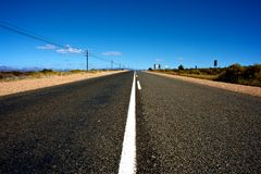 Route 62, South Africa. Wine road in Stock Image