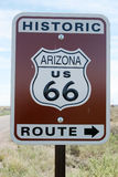 Route 66. Route sixty six road sign in Arizona Stock Image
