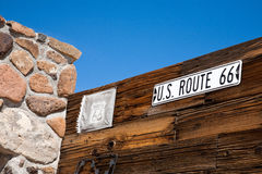 Route 66. Historic route 66, Arizona, United States Royalty Free Stock Images