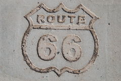 Route 66. Sign at petrified National park in Arizona Royalty Free Stock Photography