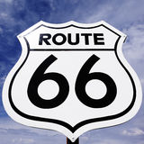 Route 66. An old, antique, nostalgic route 66 sign Royalty Free Stock Photo
