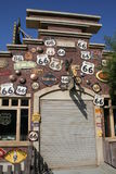 Route 66. Disney California Adventure Car Land building Stock Photography