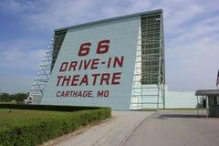 Route 66 aandrijving-in het Scherm van het Theater Royalty-vrije Stock Foto's