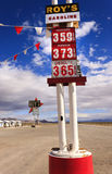 Route 66 Amboy, California. Abandoned gas station, motels and cafe, Route 66, Mojave Desert, Amboy, California Stock Image