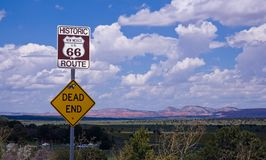 Route 66 - dead end Stock Photography