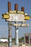Route 66 het Teken van de Kant van de weg Stock Foto