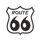 Route 66 icon. Illustration of route 66 icon Royalty Free Stock Photos