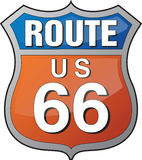Route 66 logo. Interstate and US Route signs including famous Route 66. EPS file available Stock Photography