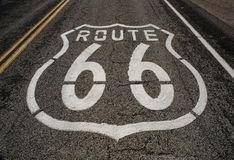 Route 66 road Stock Image