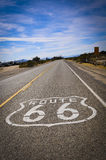Route 66 road print Royalty Free Stock Images