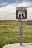 Route 66 Road Sign. Historic Route 66 Road Sign in Illinois Royalty Free Stock Photo